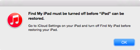 Without an Internet connection, my iPad won't let me reset it.